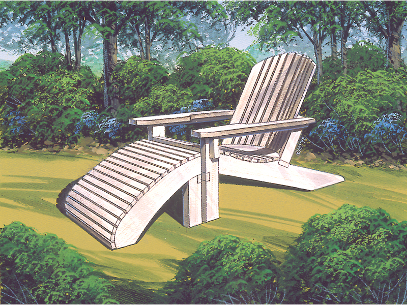 Ranch Plan Front of Home Adirondack Chair 002D-0004 | House Plans and More