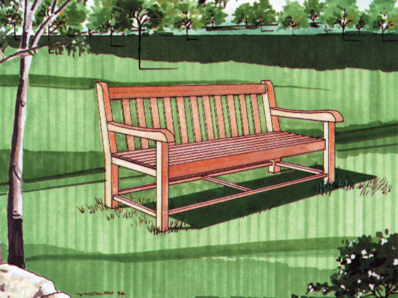 Building Plans Front of Home All Purpose Bench 002D-0014 | House Plans and More