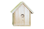 Traditionally shaped all wood bird house