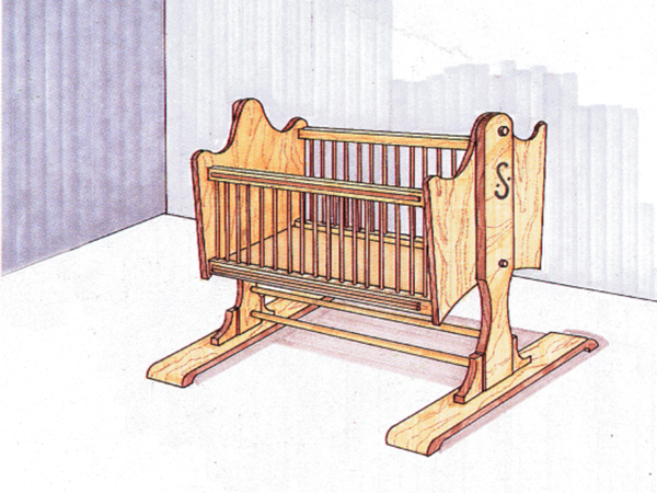 Pdf diy rocking cradle plans download queen anne coffee for Queen anne furniture plans