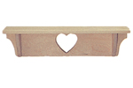 "24"" heart shelf adds a charming place to display all sorts of items in a bedroom, kitchen or other space"