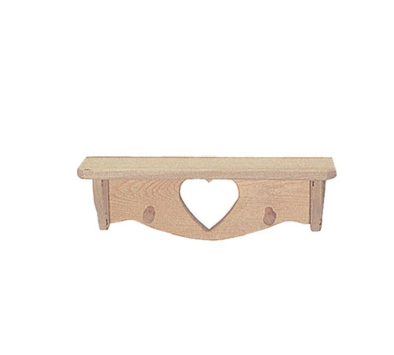 "Country Plan Front of Home 18"" Heart Shelf"