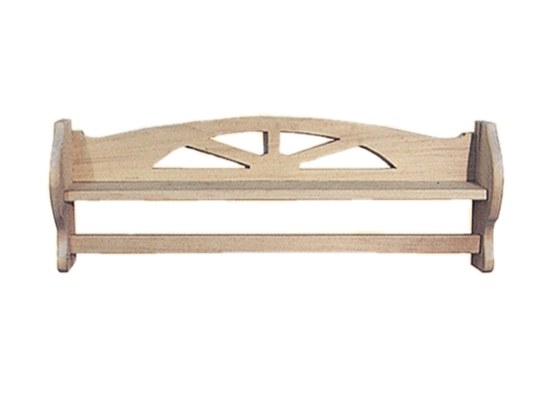 "Ranch Plan Front of Home 34"" Towel Bar with Shelf"