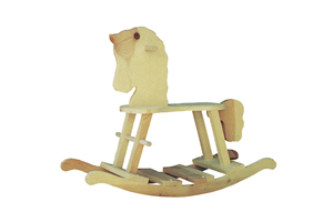 European Plan Front of Home Rocking Horse Toy 002D-1520 | House Plans and More
