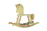This rustic rocking horse is the perfect traditional addition to a kid's bedroom