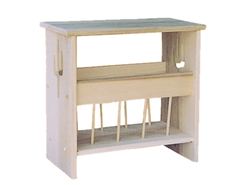 This all wood cactus magazine rack holds magazines in an organized and uncluttered way plus it would look great in a Southwestern style house plan