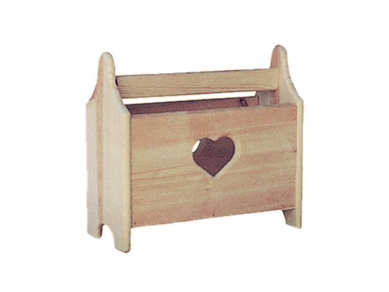 Modern Plan Front of Home Heart Magazine Rack