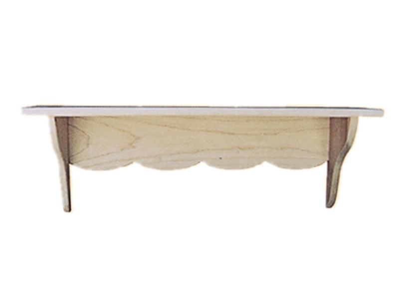 This Duxbury shelf has scalloped bottom edges and is a great versatile size