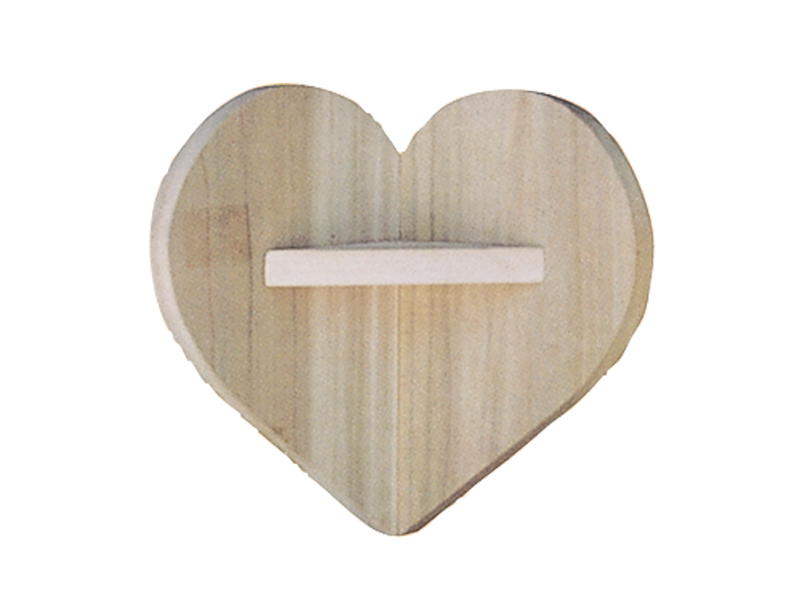 This all wood corner heart-shaped shelf is cute as well as functional