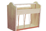 This Traditional style magazine rack easily fits with many room designs