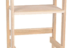 Telephone rack is great for a hallway or kitchen nook