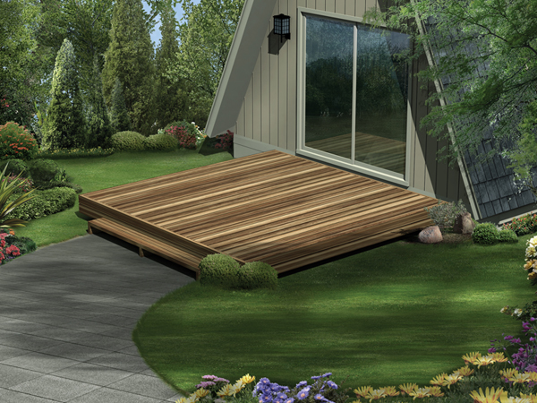 Easy To Build Simple Deck In Three Great Sizes