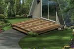 Simple wood deck is perfect for a flat lot