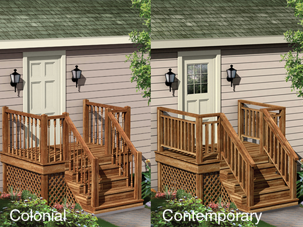 Two Entry Porch Designs In Contemporary Style Or Colonial Style