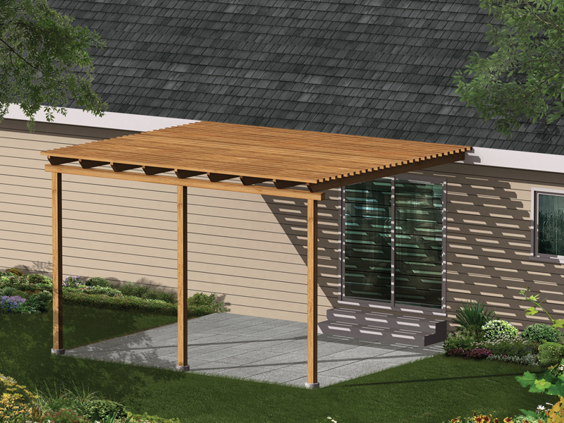 Wonderful This Simple Patio Cover Promises Less Sun Exposure And Easy Installation