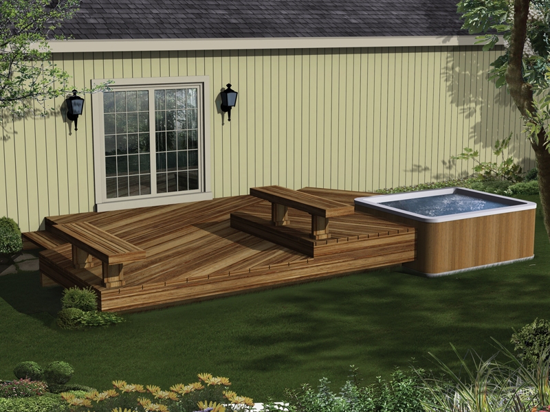 Bissinger Two-Level Spa Deck Plan 002D-3019 | House Plans and More