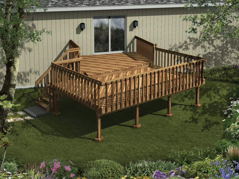 Kissinger Two Level Raised Deck Plan 002d 3020 House