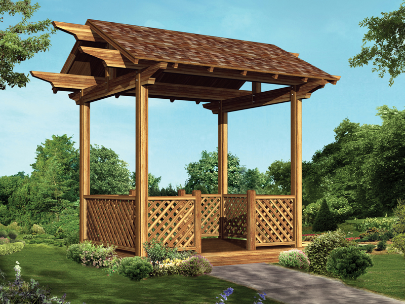 Fairybell Four Sided Gazebo Plan 002d 3025 House Plans