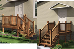 Raised entry porch allows any home plan to be built on any lot by connecting the land to the home