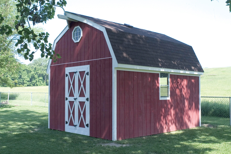marvelous barn style storage building plans #6: Barn style storage shed with double door