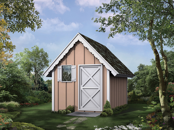 Playhouse Garden Shed Plans : Playhouse storage shed d garage plans