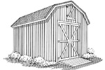 Building Plans Front Image of House - Rasmussen Yard Barn With Loft  002D-4520 | House Plans and More