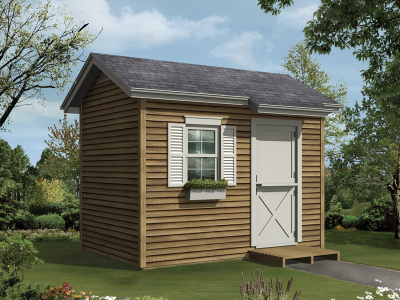 This gable style storage sed/playhouse offers a place for fun and functionality all in one