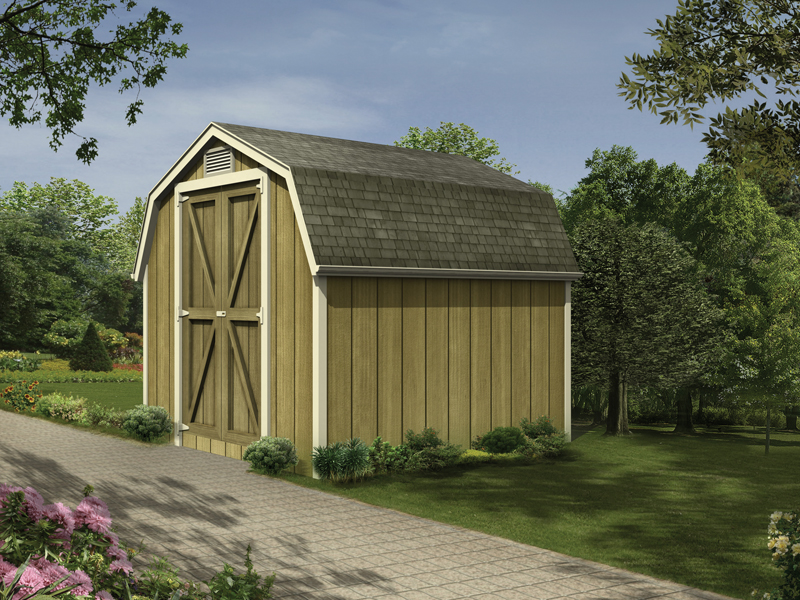 This mini barn style can be sized to fit your specific needs and offers classic country style