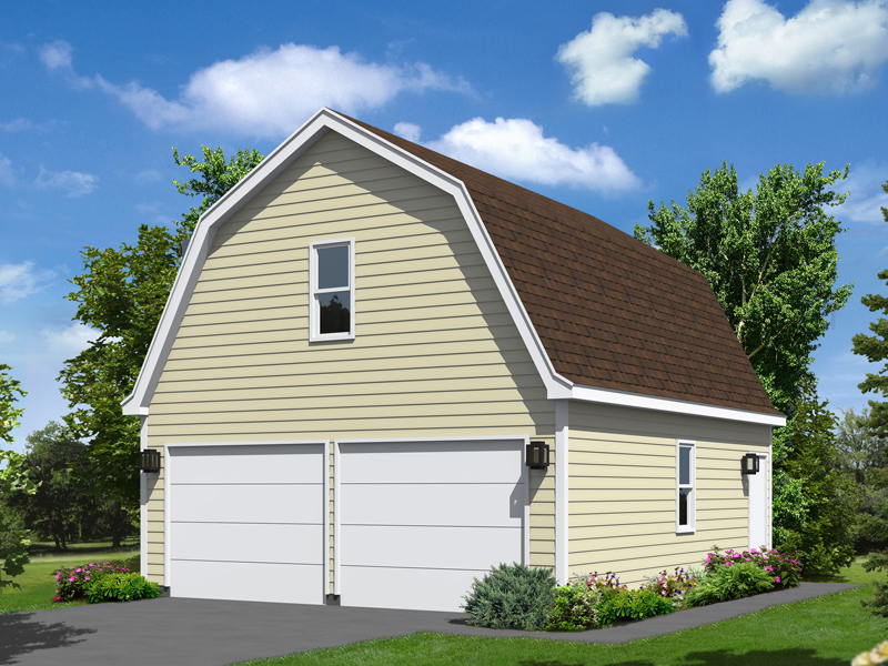 Whitley Park Gambrel Garage Plan 002D6000 – Simple 2 Car Garage Plans