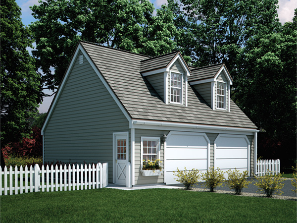 Taryn garage with loft plan 002d 6001 house plans and more for Garage with loft prices