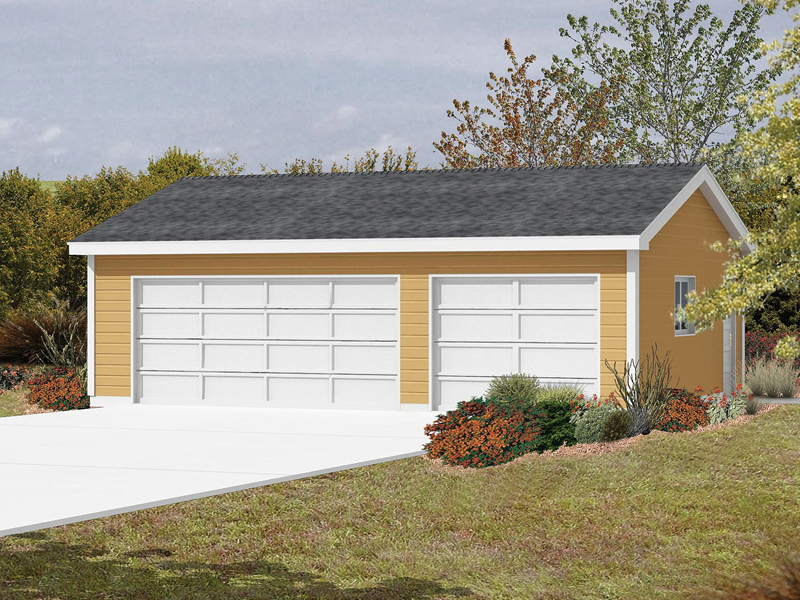 Three-car garage would easily fit with any style of home plan