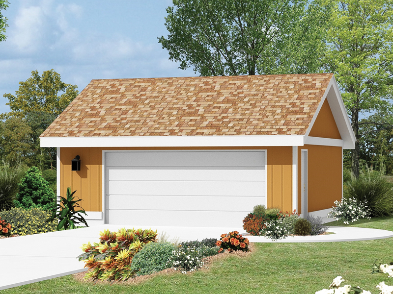 The two-car garage has a charming feel and could be built either attached to a home or detaches as shown