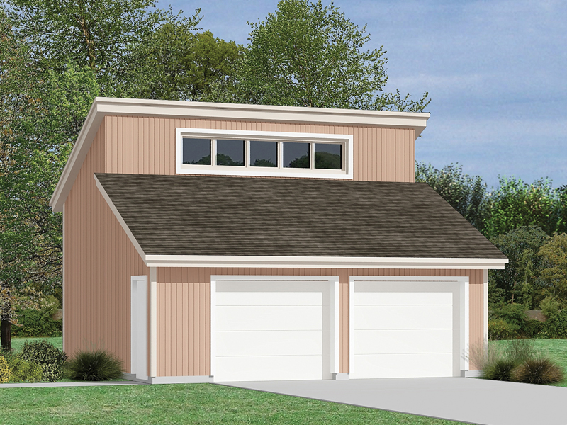 Prima 2 car garage plan 002d 6015 house plans and more for Modern garage plans with loft