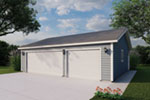 Three-car garage is a traditional style perfect with any house plan