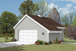 Two-car garage with extra storage space perfect for household necessities