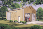 Pole-Building/Shop/Garage/ is a versatile structure with two front garage doors and sliding side doors