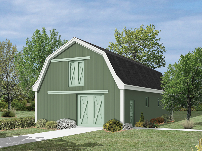 This pole building includes a horse barn with loft for keeping animals comfortable and secure