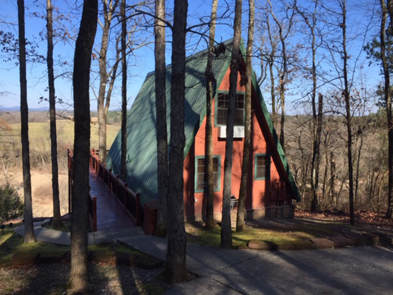 Cozy A-frame cottage plan perfect for that vacation getaway in a rustic setting