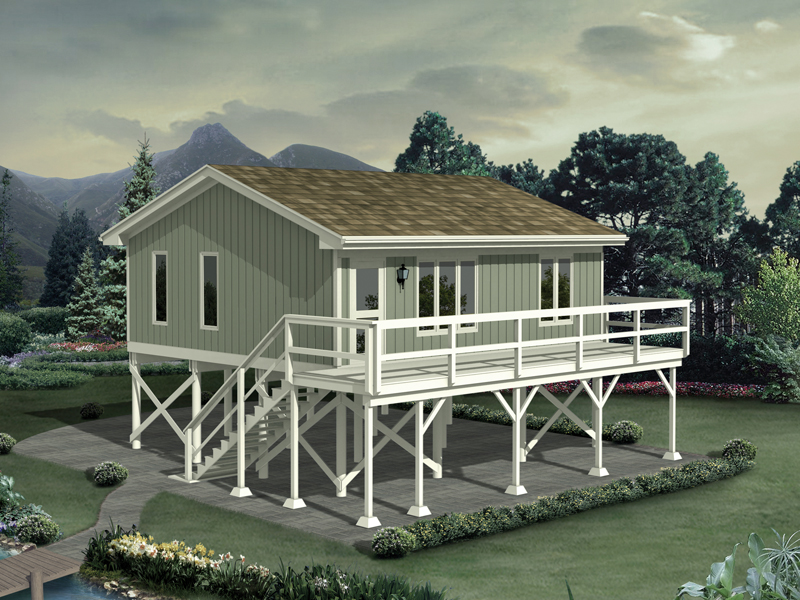 Raised Three Car Carport Has Apartment Above Great Design For Beach Coastal Or