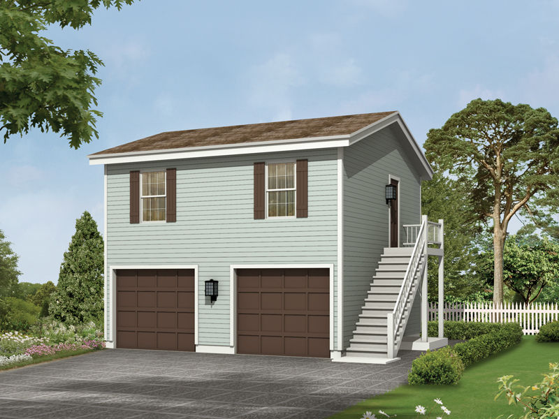 Kalinda garage apartment plan 002d 7528 house plans and more for Double garage with room above plans
