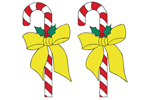 Two candy cane yard art patterns