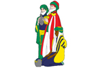 Three wisemen pattern perfect for nativity scene