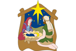 One pattern allows you to display a simple religious nativity scene
