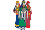 Three wise kings are colorful additions to your nativity scene