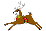 The flying deer with legs out coordinates well with the Santa flying sleigh