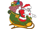 The Santa sleigh can be arranged with the reinderr patterns for an entire Santa sleigh scene