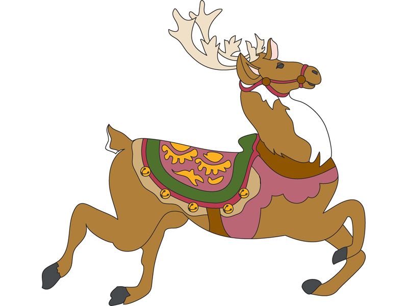 Building Plans Front of Home Prancer the Reindeer