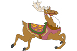 Large Prancer the reindeeer is a traditional style holiday decoration