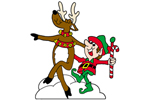 The reindeer and elf dancing pattern are fun and festive