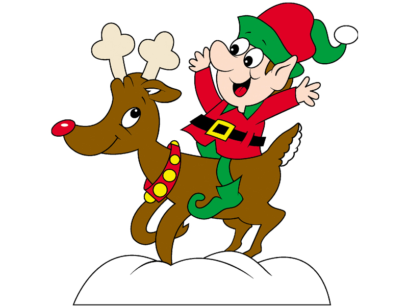 Country Plan Front of Home Elf on Reindeer
